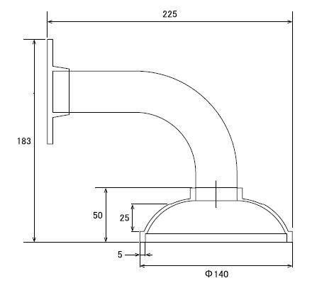 AHD930W 屋外設置対応の壁面取り付けブラケット