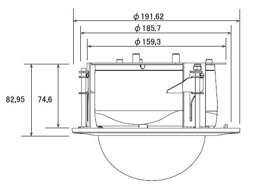 AHD933IC 天井埋め込みブラケット